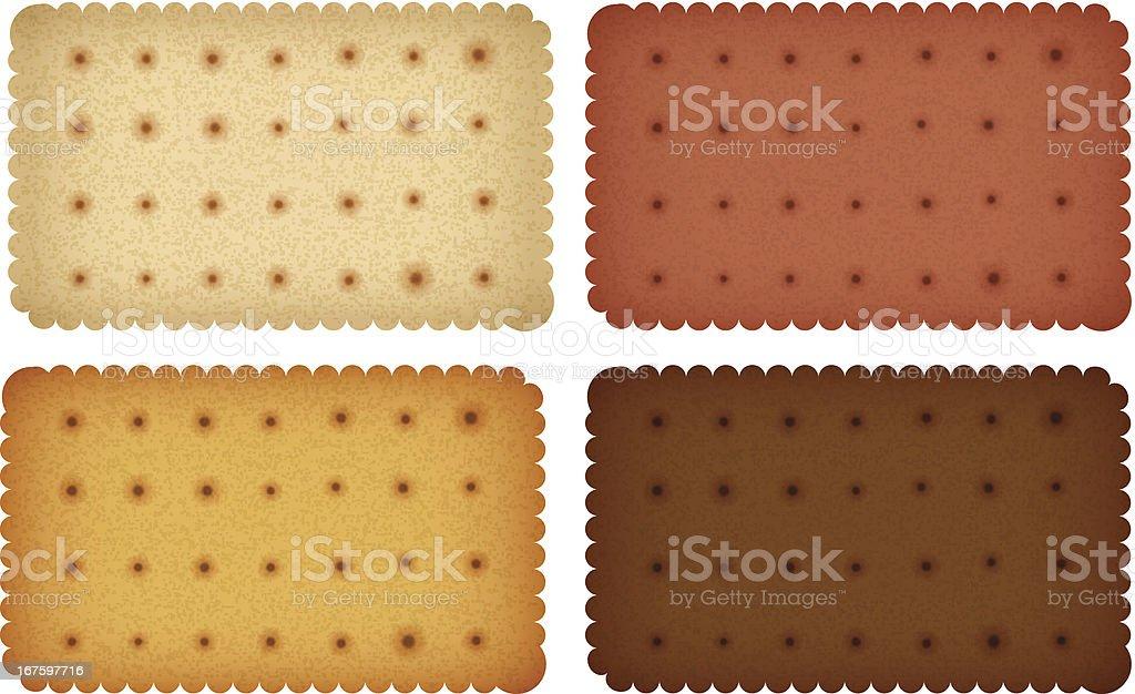 Biscuit Cookie Cracker Collection Vector EPS10 royalty-free stock vector art