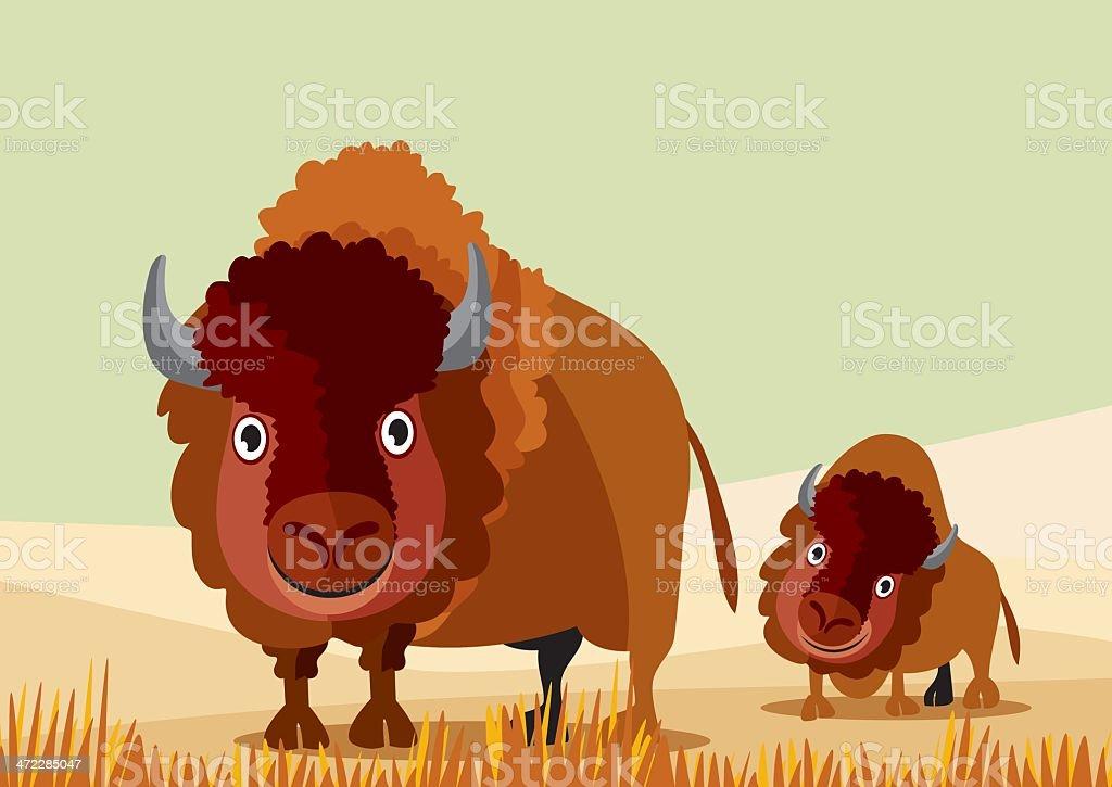 Bison royalty-free stock vector art