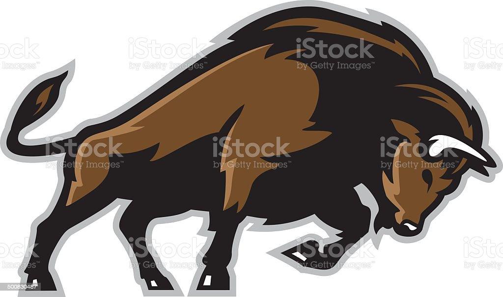 Bison vector art illustration