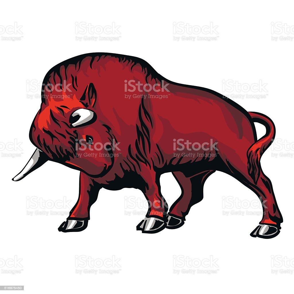 bison stock vecteur libres de droits libre de droits