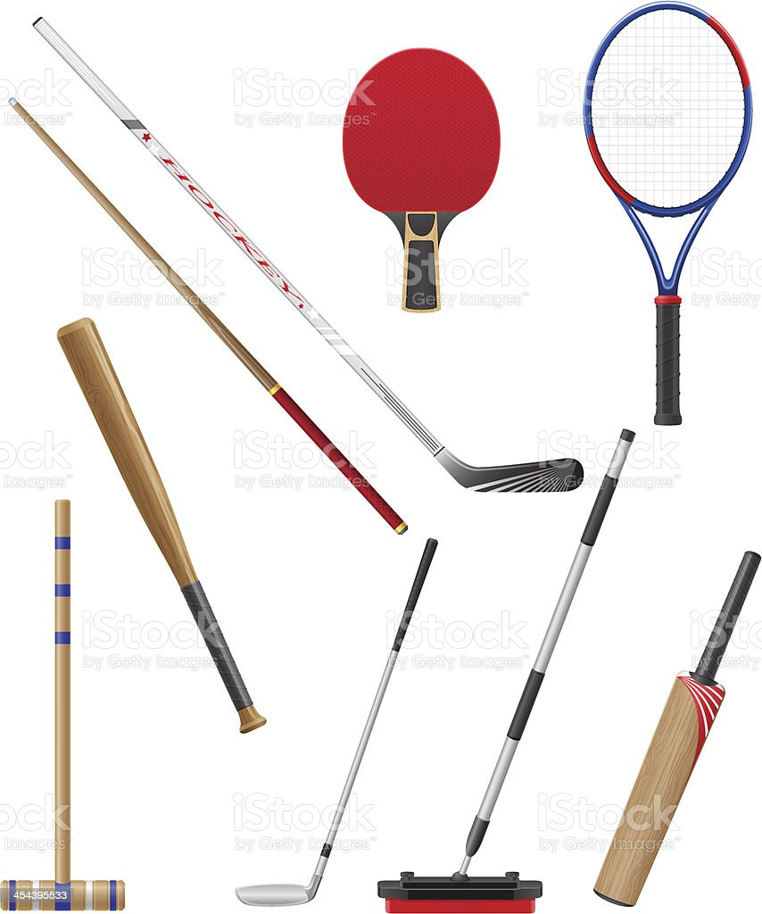 bits and stick to sports vector illustration royalty-free stock vector art