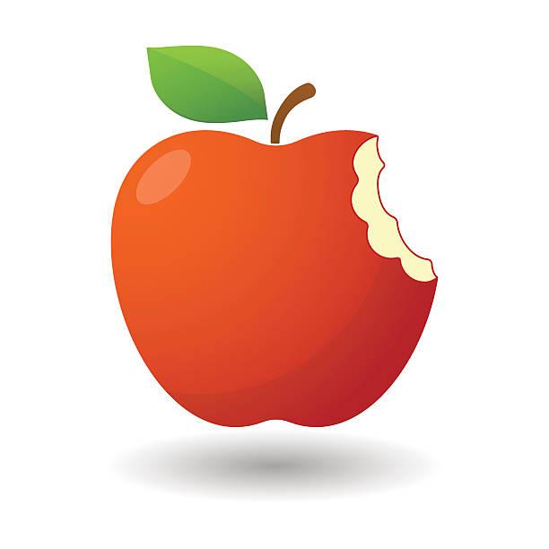 Bitten Apple Icon Vector Art Illustration