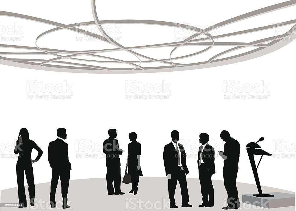 Biz Attendees Vector Silhouette royalty-free stock vector art