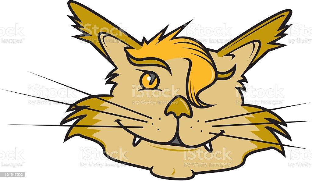 Bizarre Cat royalty-free stock vector art