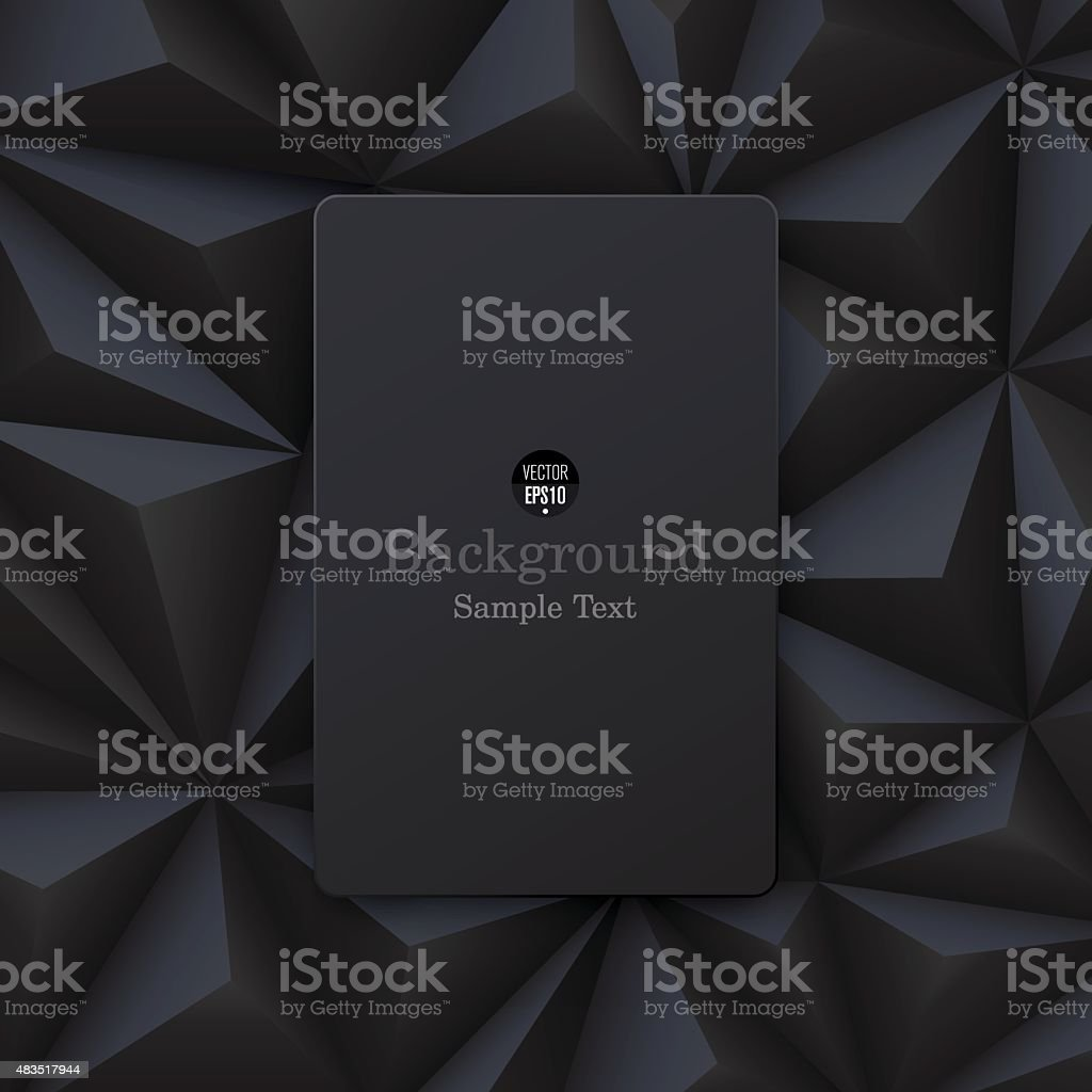 Black abstract background vector. vector art illustration