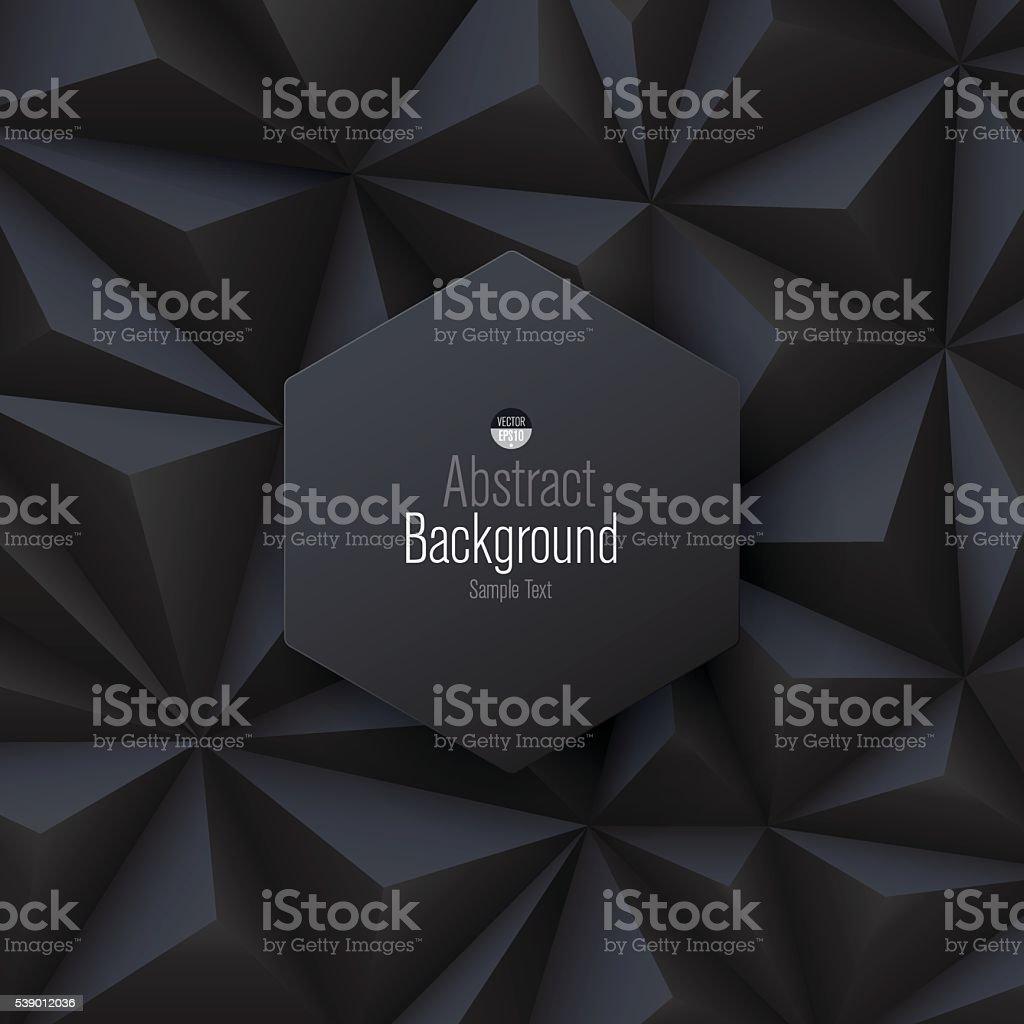 Black abstract background vector. vector art illustration