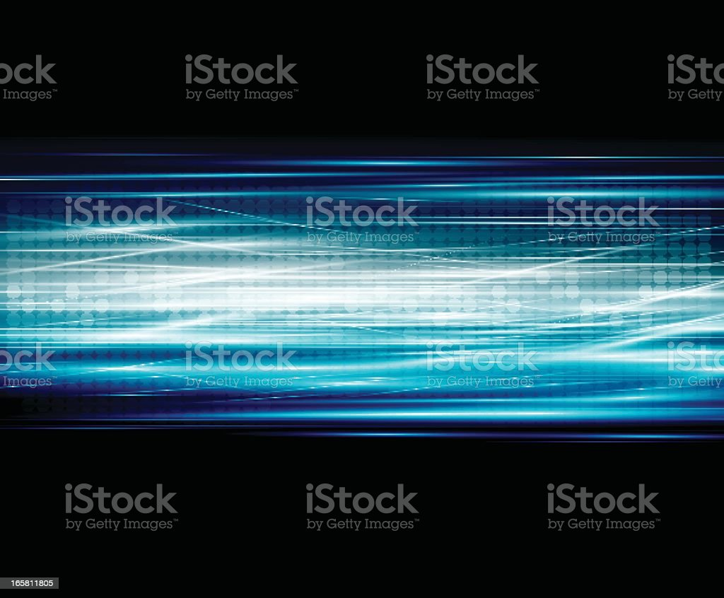 Black abstract background with blue and white lines vector art illustration