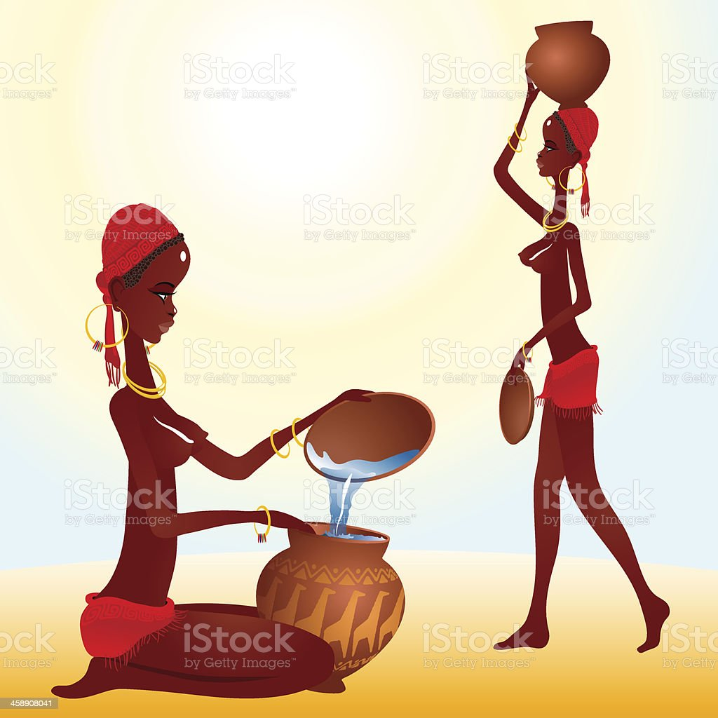 Black African woman (eps8) royalty-free stock vector art