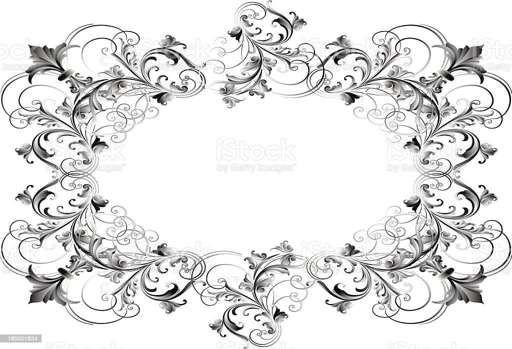 Black & White Frame royalty-free stock vector art