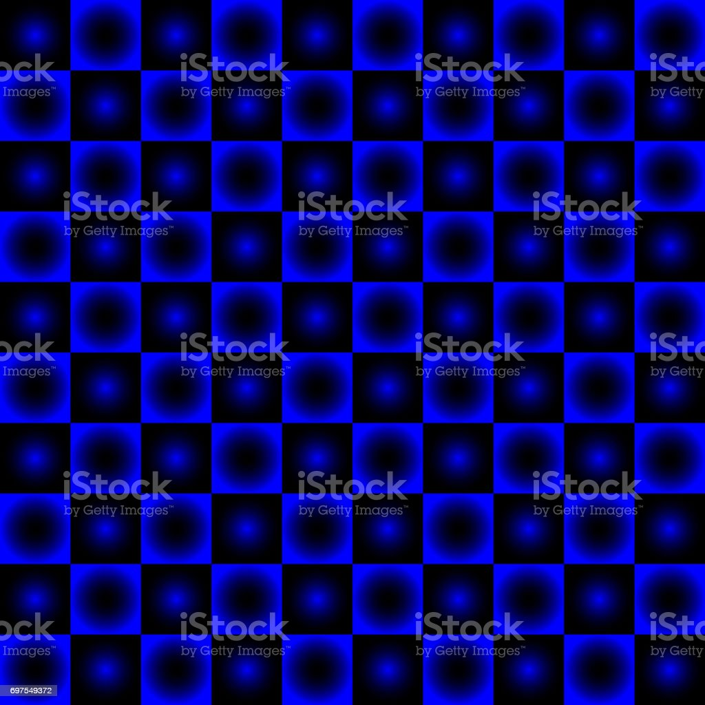 Black and blue chessboard, abstract geometric background vector art illustration