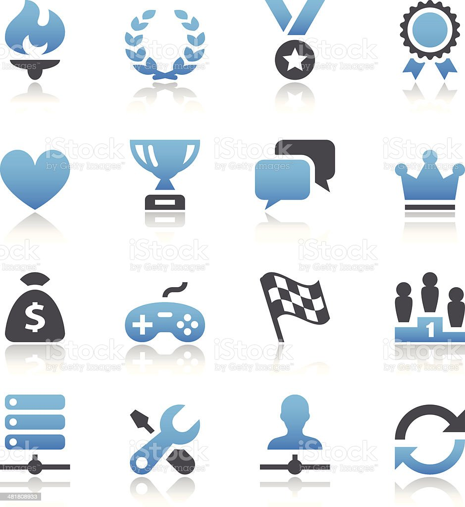 Black and blue vector gaming icons royalty-free stock vector art