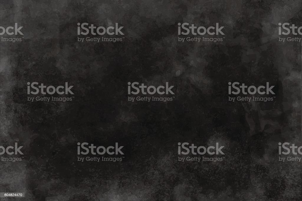 Black and dark gray watercolor texture, background vector art illustration