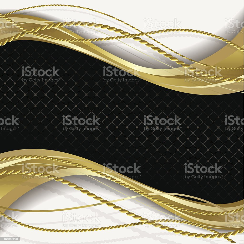 Black and gold background royalty-free stock vector art