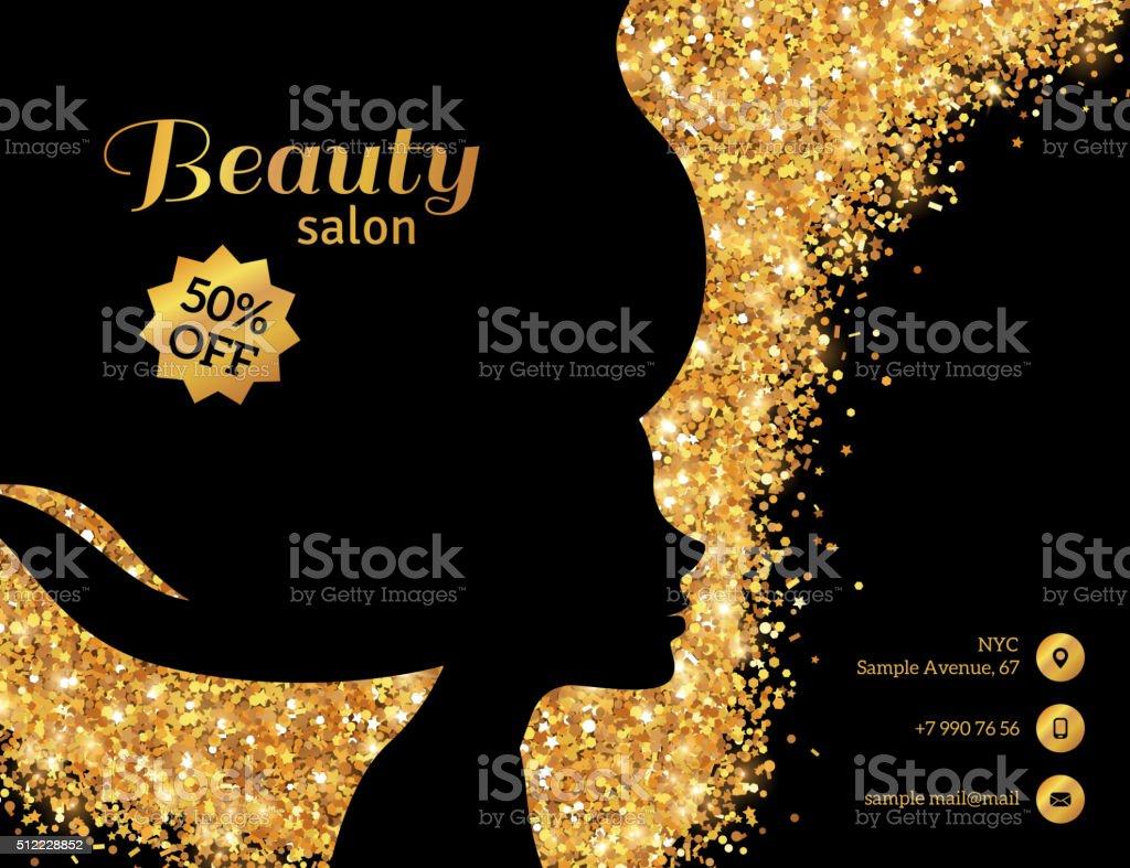 Black and Gold Fashion Woman vector art illustration