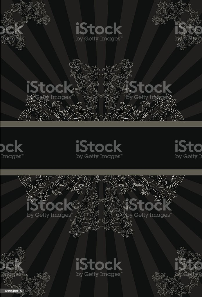 black and gray scroll background royalty-free stock vector art