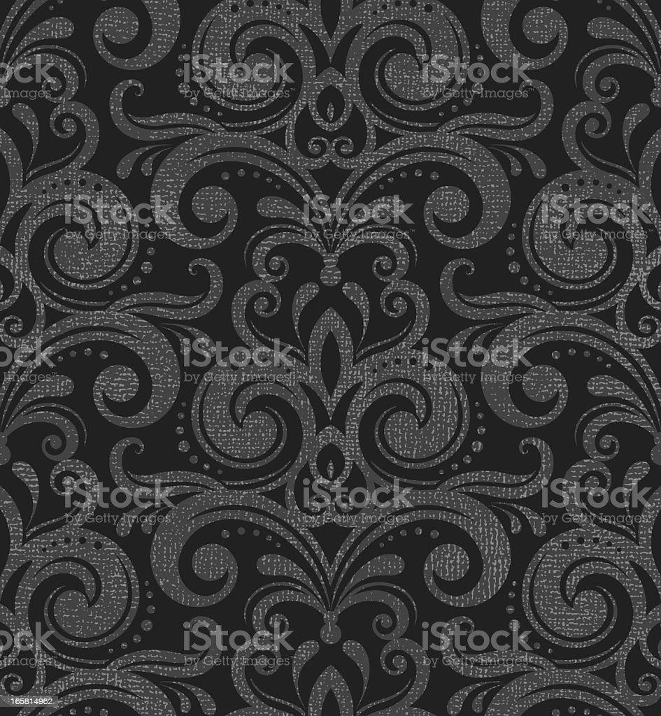 Black and gray seamless wallpaper pattern royalty-free stock vector art