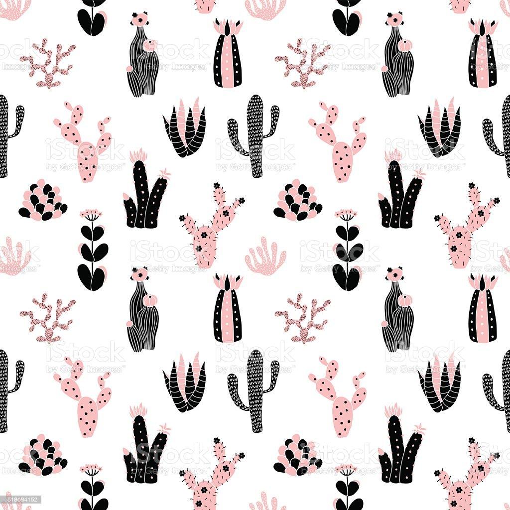 black and pink pattern vector art illustration