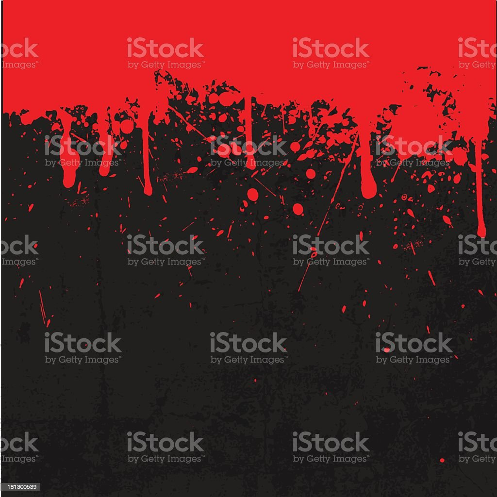 Black and red blood splattered background royalty-free stock vector art
