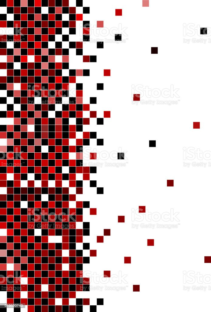 black and red check pattern background vector art illustration