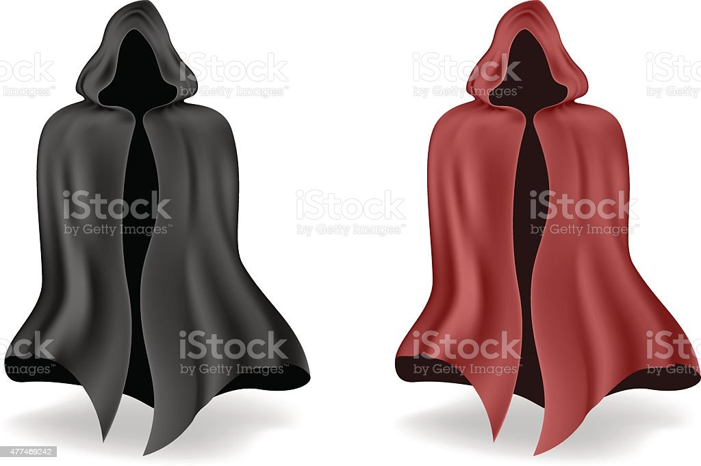 black and red mantle vector art illustration