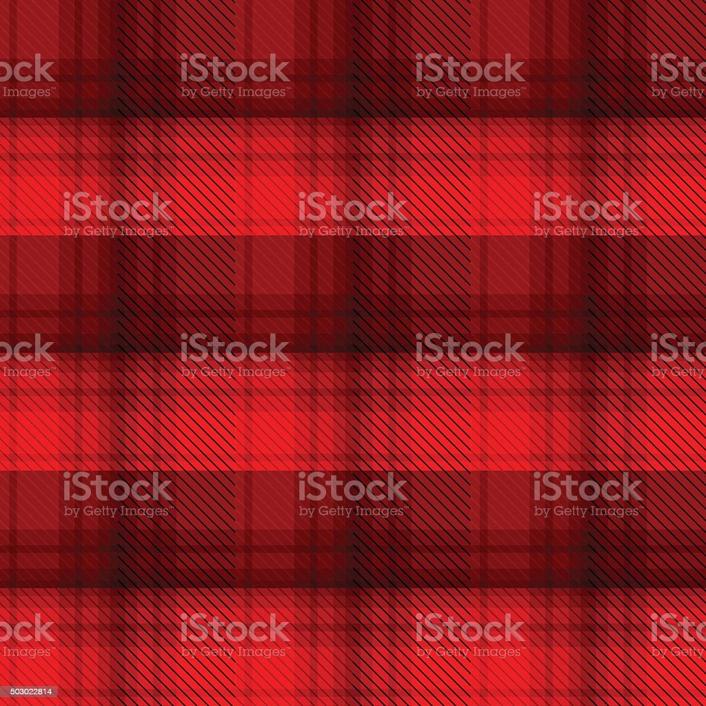 Black and red tartan plaid background vector art illustration