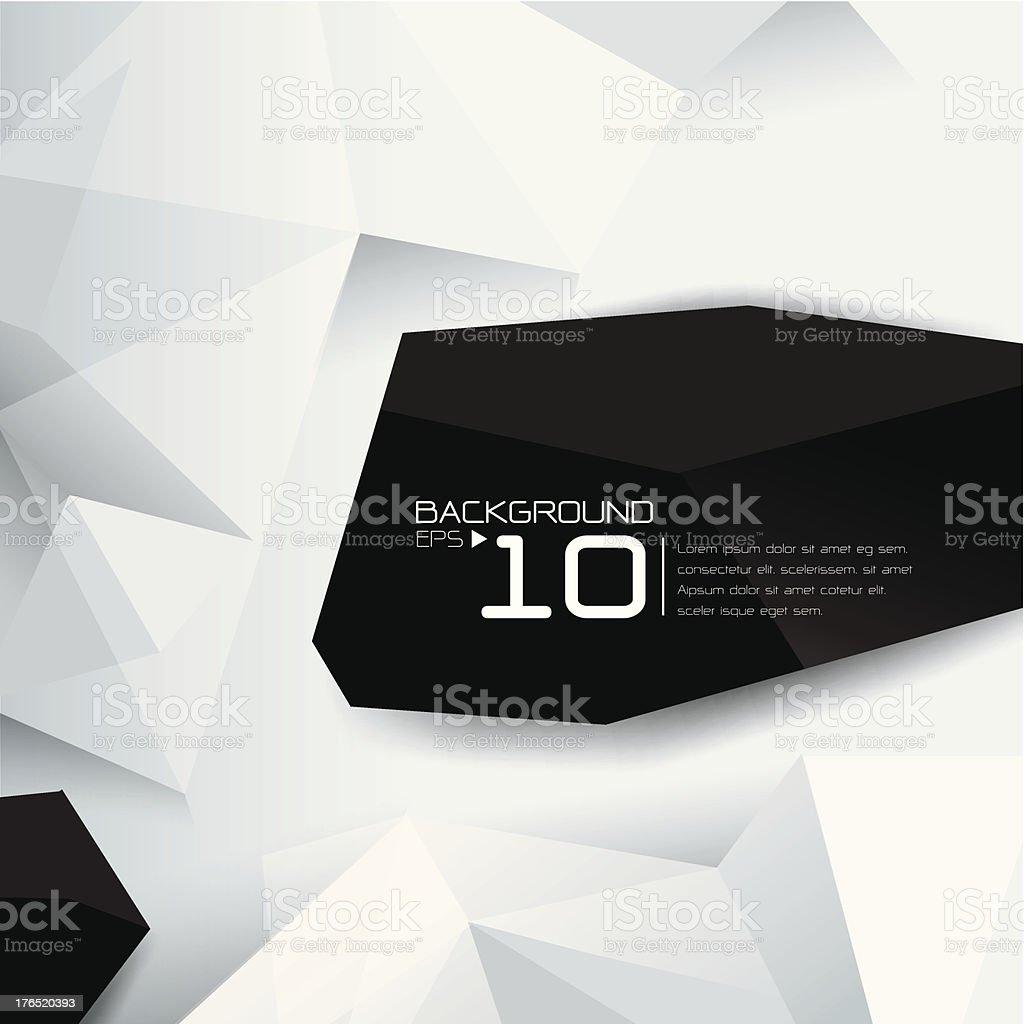 Black and white 2D geometric background vector art illustration