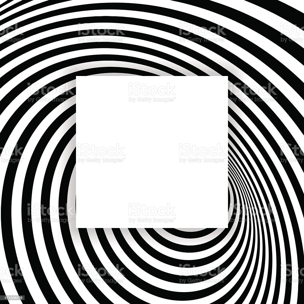 Black and white abstract striped background. Optical Art. vector art illustration