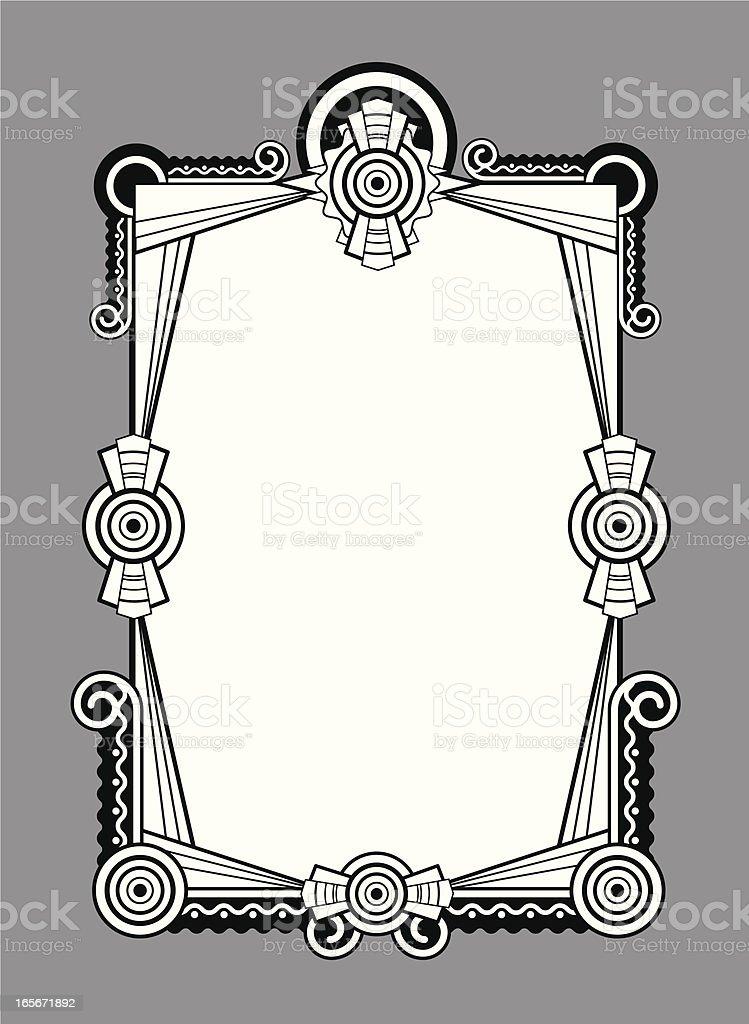 black and white art deco inspired frame royalty-free stock vector art