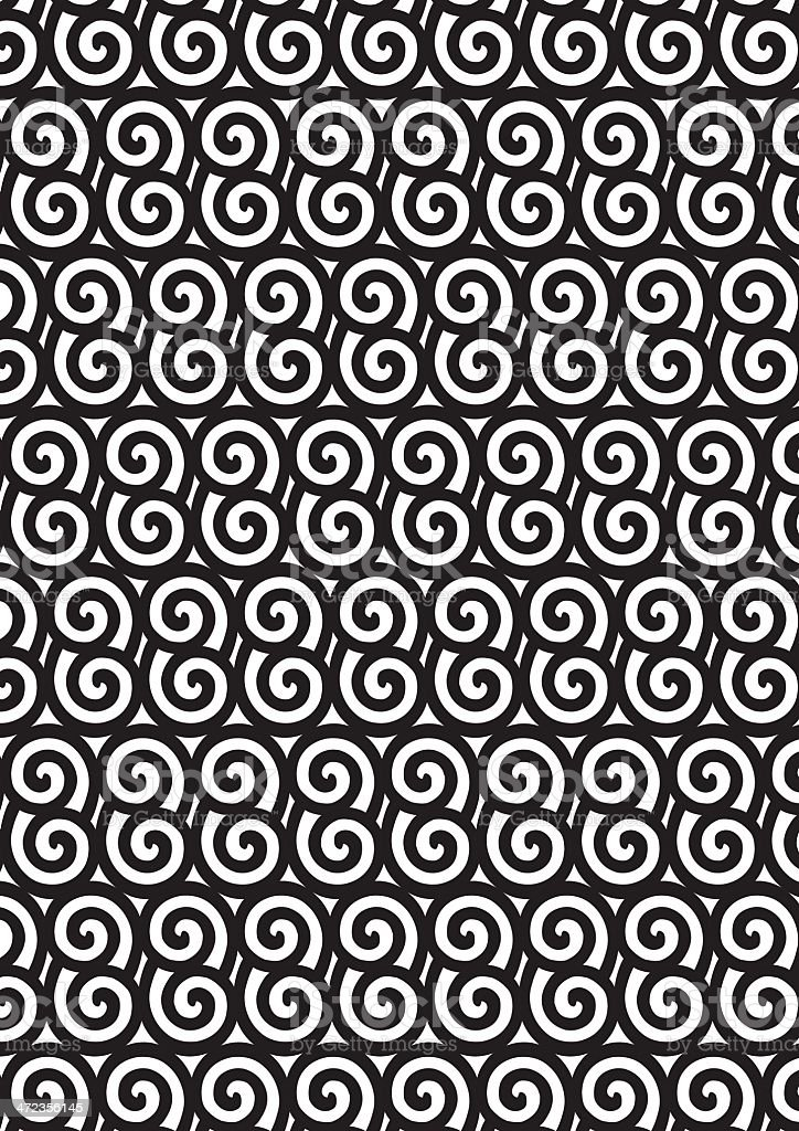 Black and white Asian style spiral. royalty-free stock vector art