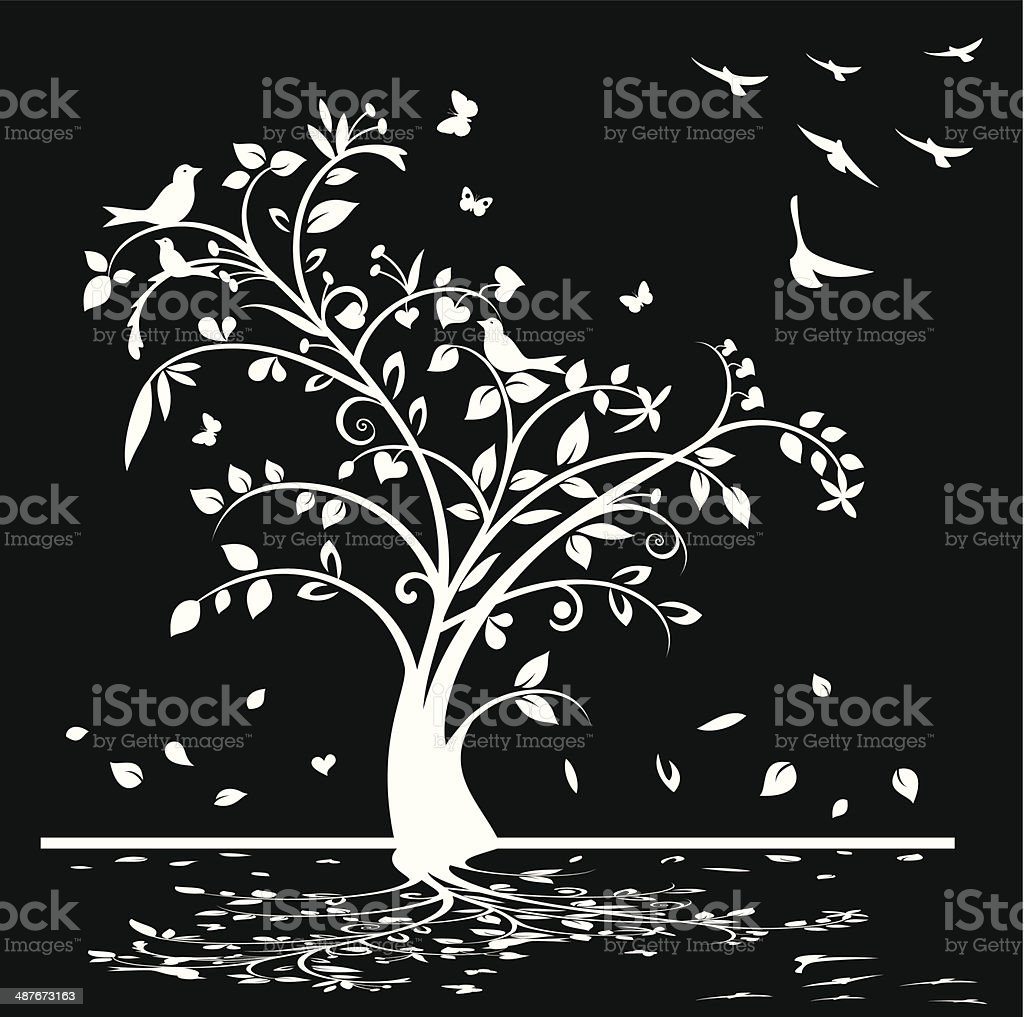 Black and white background royalty-free stock vector art