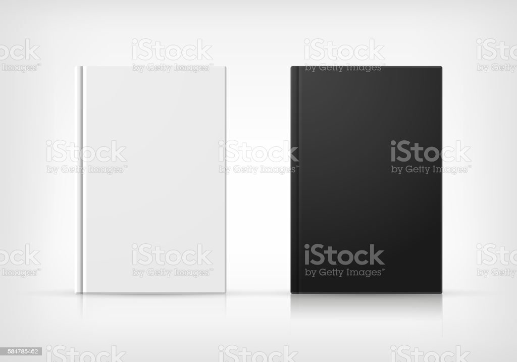 Black And White Book Covers vector art illustration