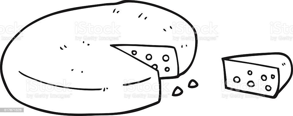 Käse clipart schwarz weiß  Schwarz Und Weiß Cartoonkäse Vektor Illustration 517871526 | iStock