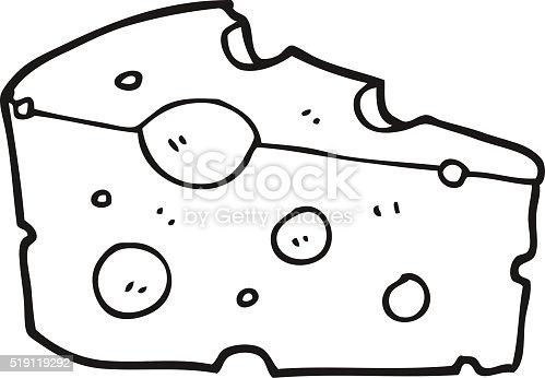 Käse clipart schwarz weiß  Schwarz Und Weiß Cartoonkäse Vektor Illustration 519119292 | iStock