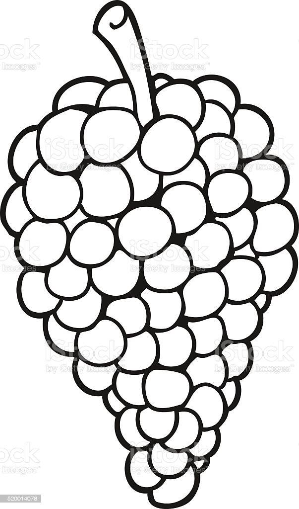 Black And White Cartoon Grapes stock vector art 520014078 ...