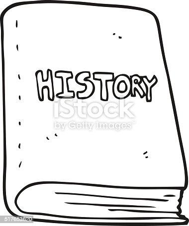 Black And White Cartoon History Book stock vector art