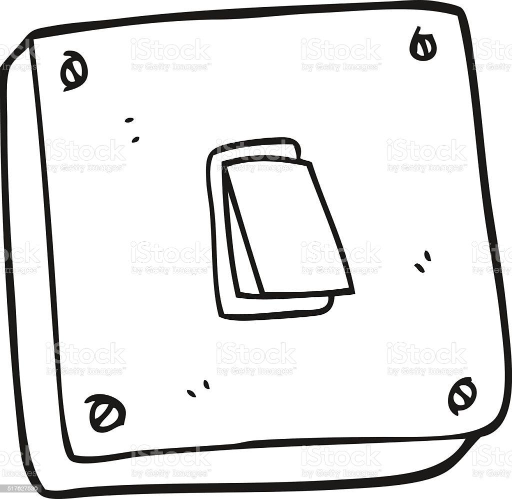 Lichtschalter clipart  Schwarz Und Weiß Cartoon Lichtschalter Vektor Illustration ...