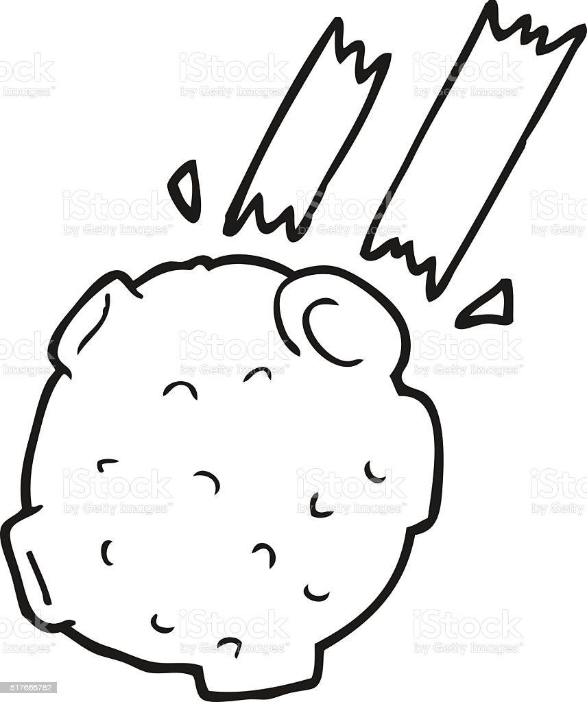 Black And White Cartoon Meteor stock vector art 517666782