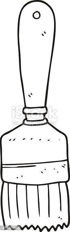 Pinsel clipart schwarz weiß  Schwarz Und Weiß Cartoon Malen Pinsel Vektor Illustration ...