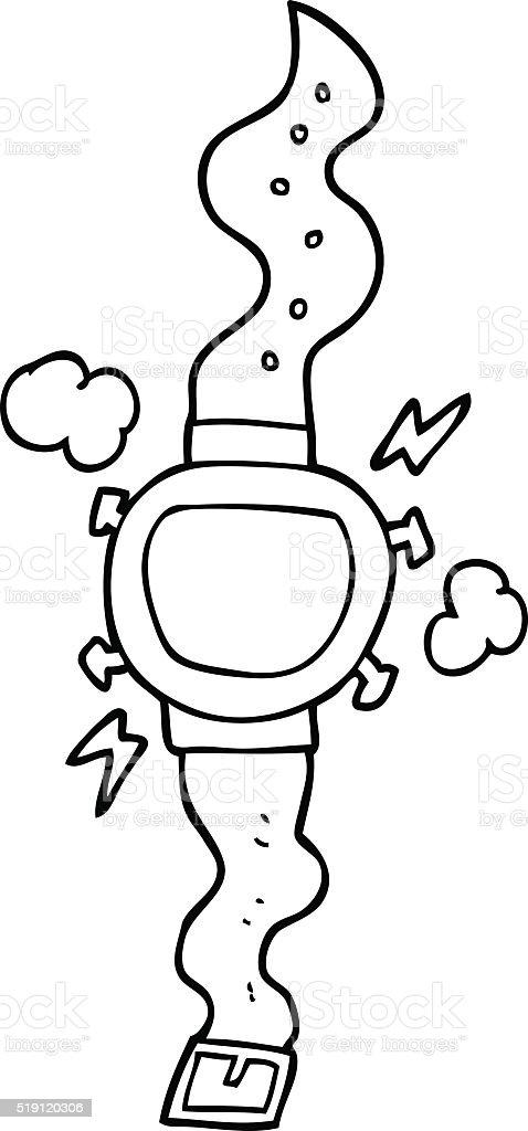 Armbanduhr zum ausmalen  Schwarz Und Weiß Cartoon Armbanduhr Vektor Illustration 519120306 ...