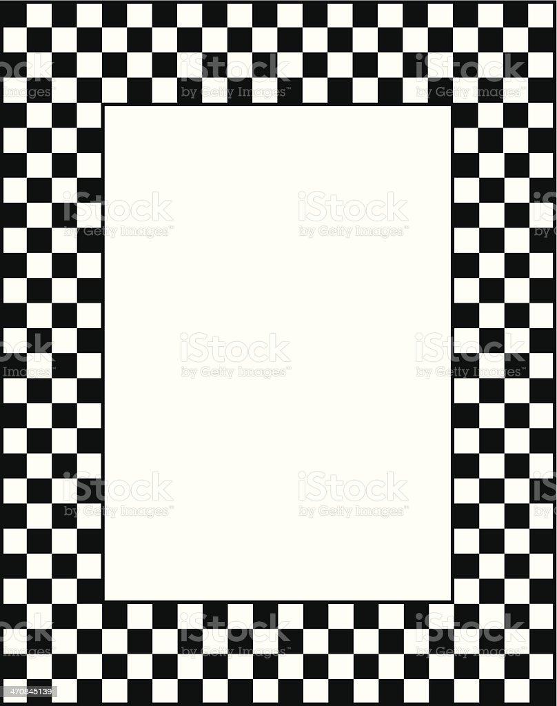 Black And White Checkered Frame vector art illustration