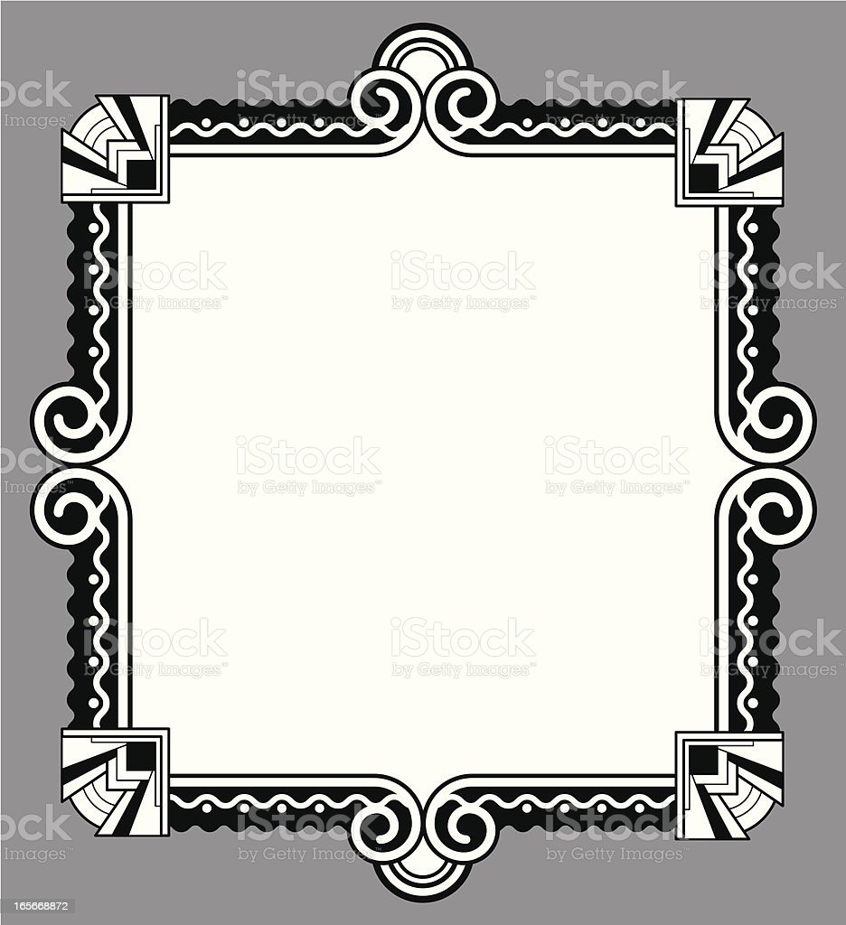 black and white deco frame royalty-free stock vector art