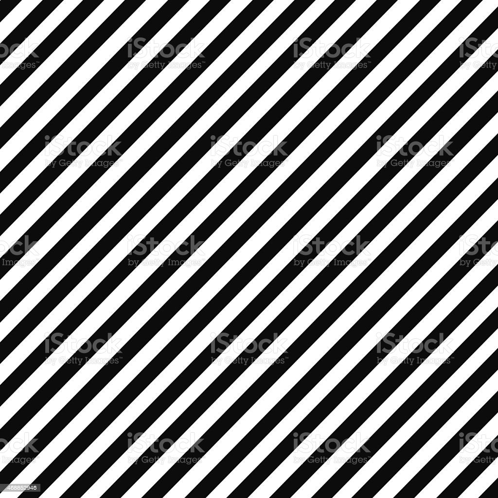 Black and white diagonal stripe pattern vector art illustration