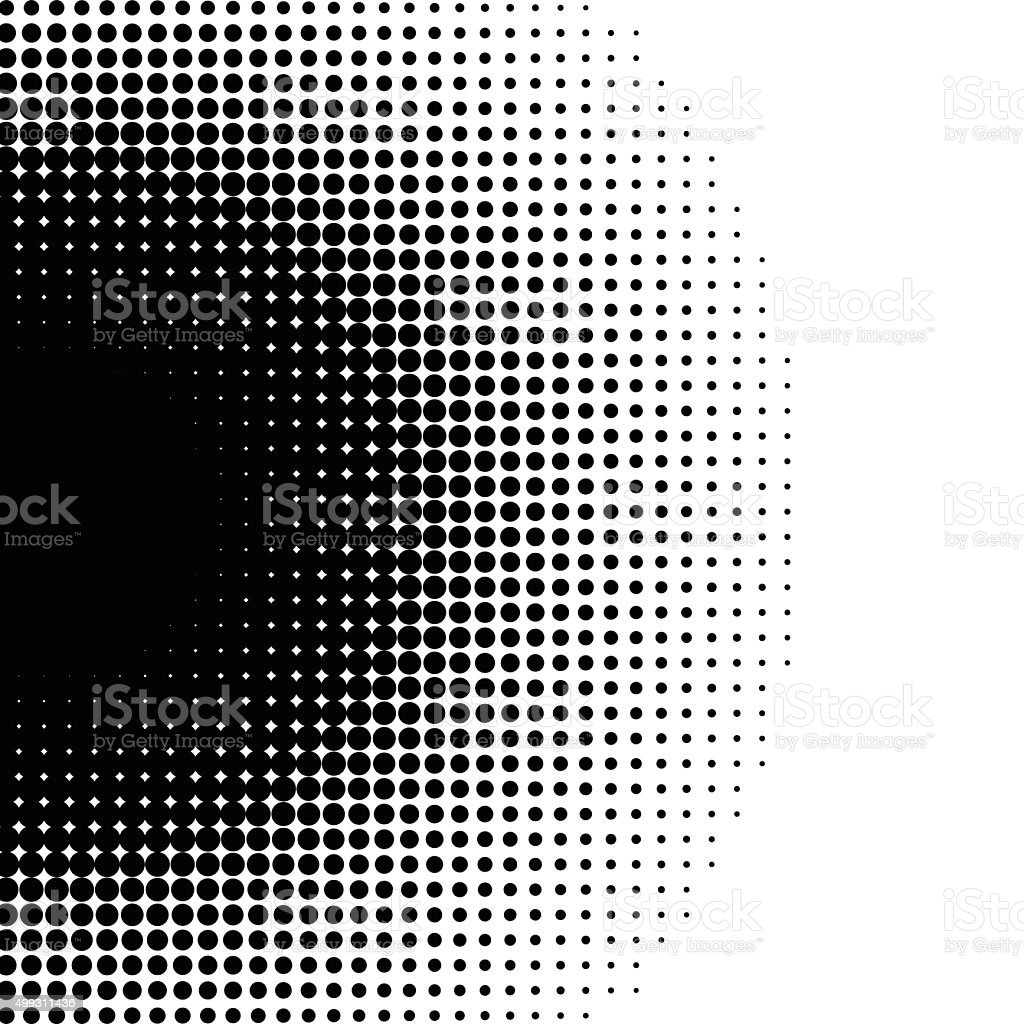 black and white dots pattern background vector art illustration