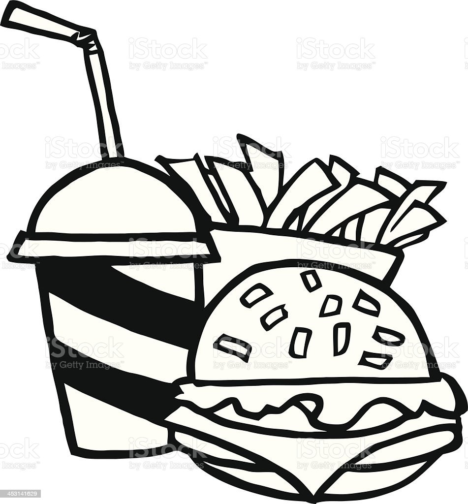 free black white food clipart images - photo #27