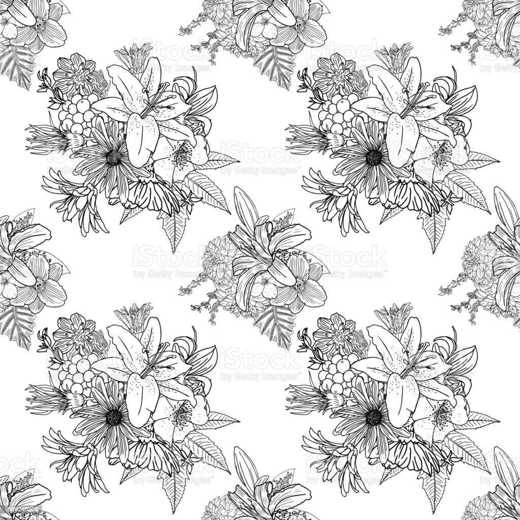 Dessin de fleur en noir et blanc galerie tatouage Fleur noir et blanc