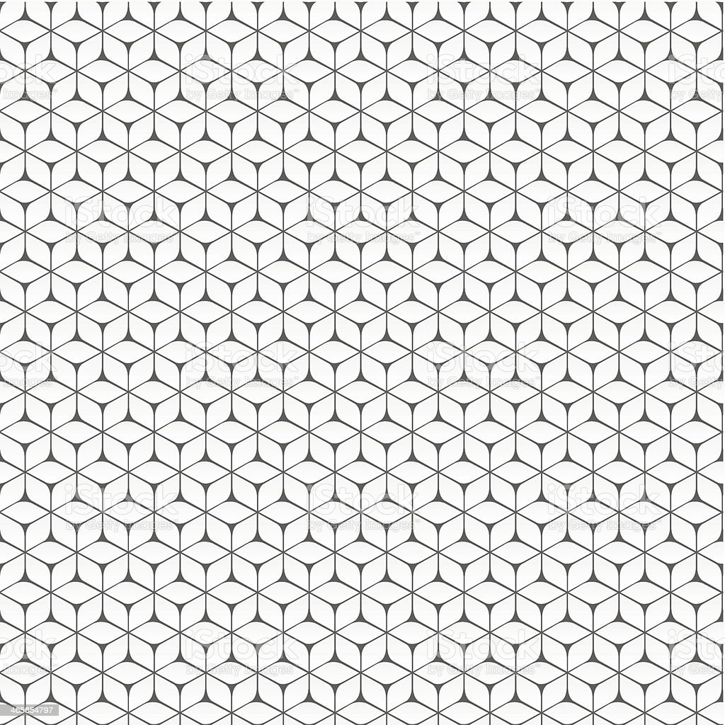 Black and white geometric cube background vector art illustration