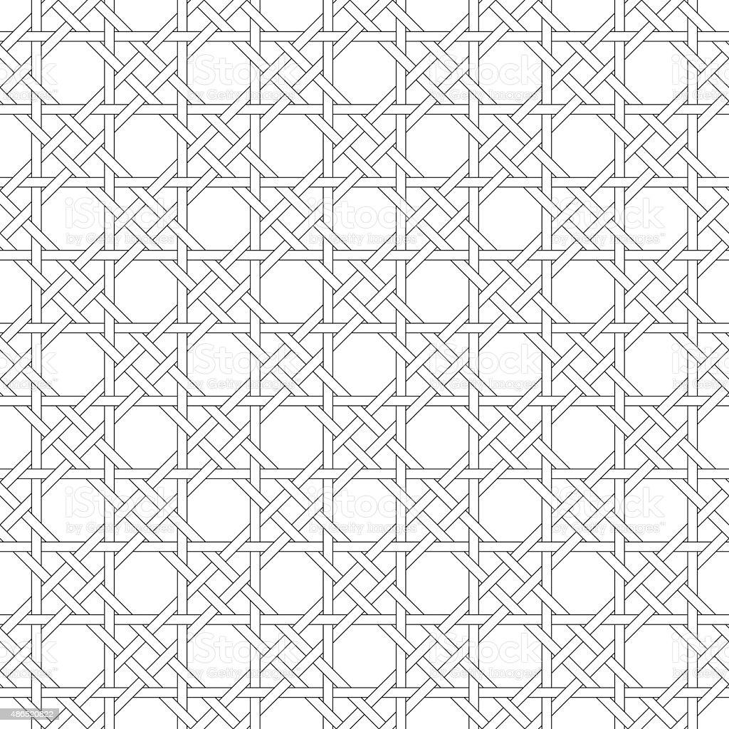 Black and white geometric seamless pattern. vector art illustration