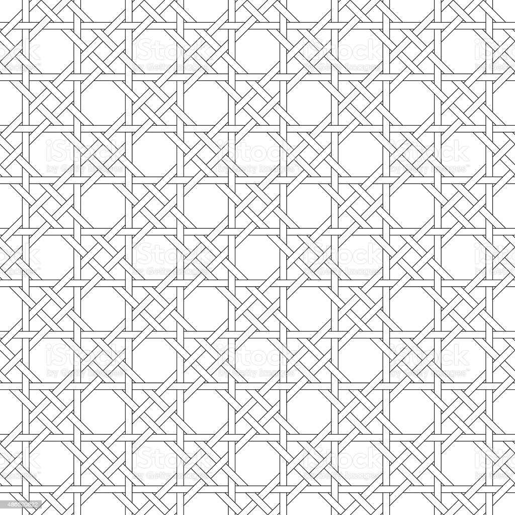 Black and white geometric seamless pattern. vector art illustration