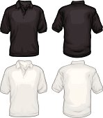 Black And White Golf Tee Shirts Front Back