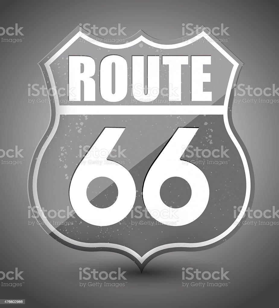 Noir et blanc grunge signe de la route 66 stock vecteur libres de droits libre de droits